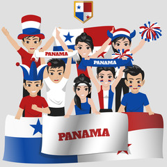 Set of Soccer / Football Supporter / Fans of Panama National Team