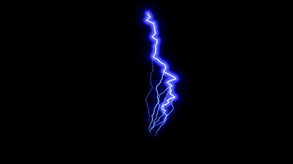 Blue lightning in black space, beautiful stormy sky, 3d rendering backdrop, computer genrating
