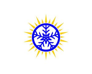snowflake and sun logo
