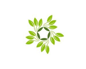 Nature plant logo template