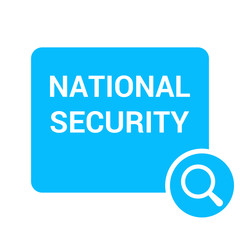Safety Concept: Magnifying Optical Glass With Words National Security