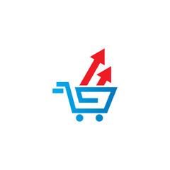 shopping arrow vector logo