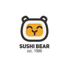 Logo of sushi bear, for the restaurant of Asian cuisine