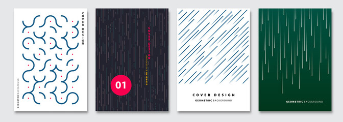 Cover templates set, vector geometric abstract background. Flyer, presentation, brochure, banner, poster design.