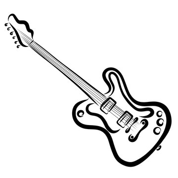 musical instrument, electric guitar, black lines