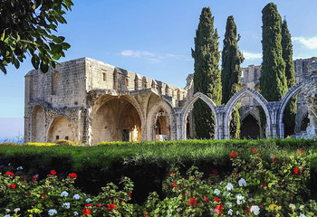 monastery in bellapais, a small village in northern cyprus