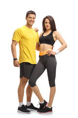Young fitness couple