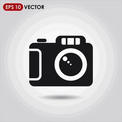 camera single vector icon on light background