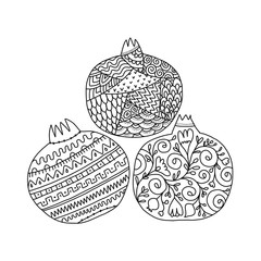 Pomegranates ornate, sketch for your design