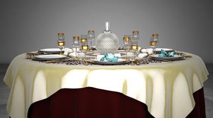 Cucina Di Diamanti, Alta Cucina, Chef, Ristorante, Menu, illustrazione 3d