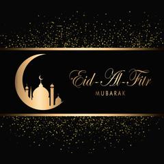Eid Mubarak Design Background. Vector Illustration for greeting card, poster and banner.
