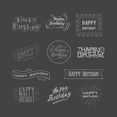 Garden Poster Positive Typography Happy Birthday logos