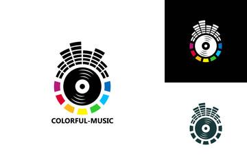Colorful Music Logo Template Design Vector, Emblem, Design Concept, Creative Symbol, Icon