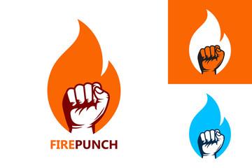 Fire Punch Logo Template Design Vector, Emblem, Design Concept, Creative Symbol, Icon