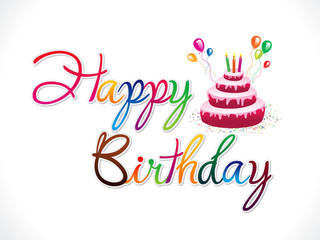 abstract artistic happy birthday background