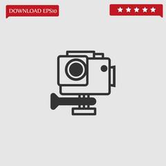 action camera vector icon