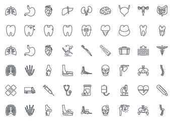 Medicine line icon vector pack