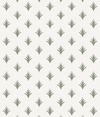 Vector pattern, repeating abstract green grass. monochrome stylish clean design for fabric, wallpaper, printing. Pattern is on swatches panel.