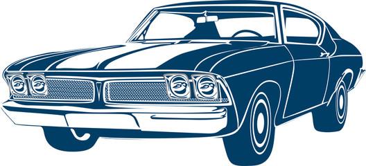 Papiers peints Cartoon voitures muscle car