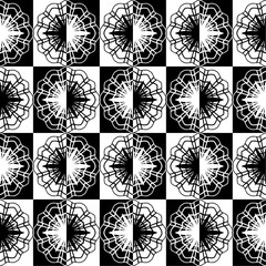 Seamless decorative pattern in a contrast black - white colors