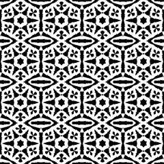 Seamless pattern with a six-pointed stars in a black  - white colors