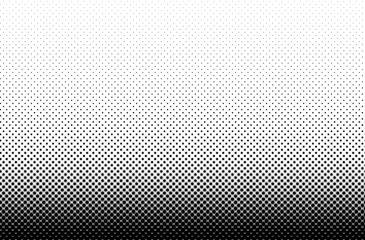 Black and white with stars halftone pattern. Geometrical background. Vector illustration.