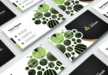 Black and Green Business Card Layout
