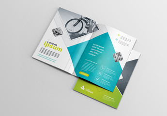 Blue and Green Brochure Layout