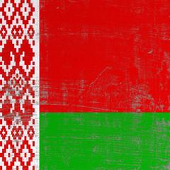 scratched Belarus flag
