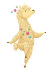 Cute hand drawn llama