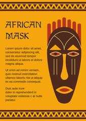 Tribal, ethnic, decorative, African mask.