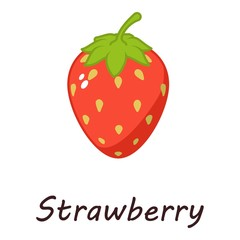 Strawberry icon. Isometric illustration of strawberry vector icon for web