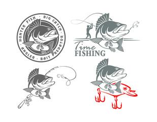 perch fishing icons