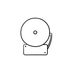 Fire alarm hand drawn outline doodle icon. Vector sketch illustration of fire alarm for print, web, mobile and infographics isolated on white background.