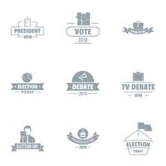 Vote logo set. Simple set of 9 vote vector logo for web isolated on white background