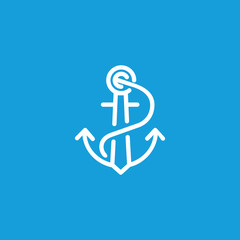 Nautical anchor icon