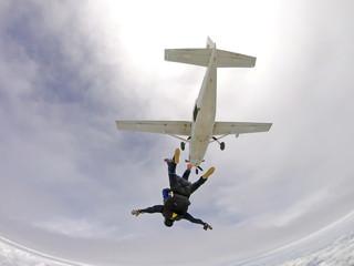 Skydiving tandem cloud day