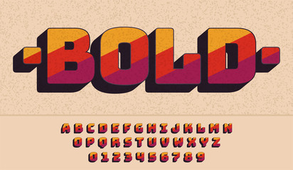 Retro Font 90's, 80's. typography design, Simple Bold Style. Vector abc alphabet