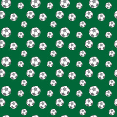 Football pattern seamless repeat. Simple illustration of football vector pattern geometric for any web design