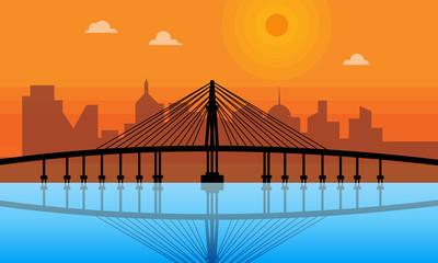 Ponte de ferro do Rio Negro que atravessa o estado do Amazonas