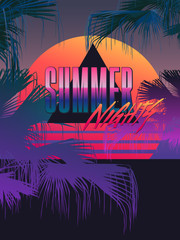 summer nights tropic neon 80s template