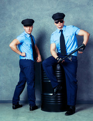 striptease dancers  policemen