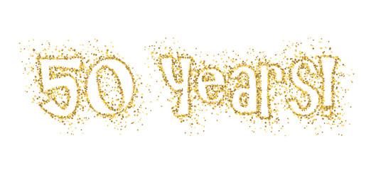 50 YEARS! gold glitter banner
