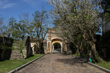 Gate inside the citadel. Imperial Forbidden City. Hue, Vietnam.