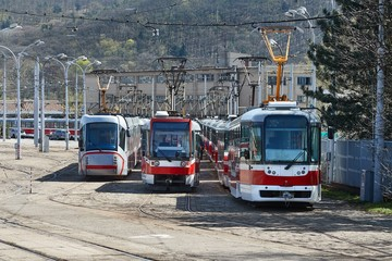 Trams out of service