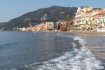 Italian Riviera. Seafront at the resort of Alassio