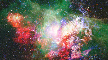 Nebula and stars in deep space. Elements of this image furnished by NASA