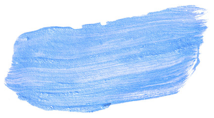 watercolor texture. The stain of the paint is blue.