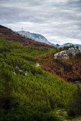 Beautiful mountain Biokovo mountain park in Croatia