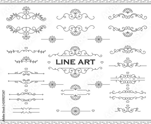 Line art frames and scroll elements floral linear border design line art frames and scroll elements floral linear border design elements flourishes calligraphic ornaments stopboris Image collections